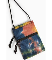 mens multi tie dye lanyard pouch bag