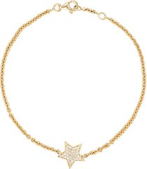 alinka stasia 18kt gold and diamond star bracelet - metallic