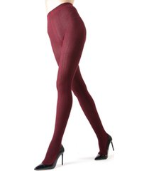 textured cable sweater women's tights
