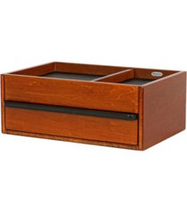 mele co. darien men's wooden dresser top valet