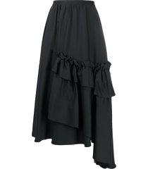 antonio marras asymmetric ruffled skirt - black
