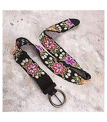 wool belt, 'garden of flowers' (peru)