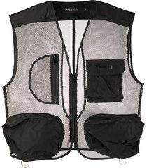 misbhv the transparent mesh vest - black