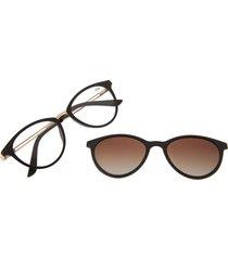 montura de gafas con lente extra (multi) - lvmu0369 - gradiente marron
