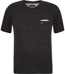 camiseta plus size malha oregon preta - kanui