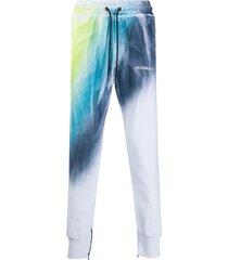 mauna kea drawstring tie-dye print joggers - blue