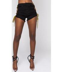 akira the new thing high rise denim shorts
