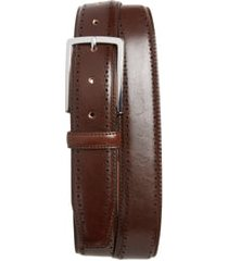 men's nordstrom men's shop lowell leather belt, size 44 - brown