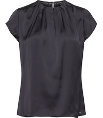 blouse short-sleeve blouses short-sleeved blå taifun