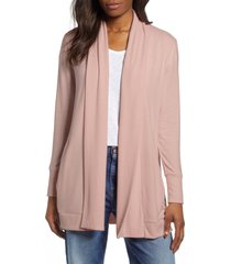 women's gibson cozy ribbed cardigan, size xx-large - pink