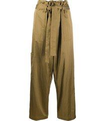 jejia multi-pocket tie-waist trousers - neutrals