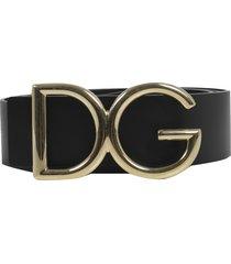 dolce & gabbana black logo belt g
