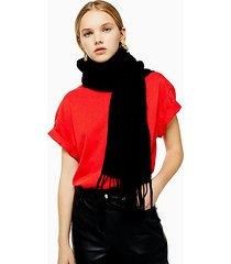considered black super soft scarf with recycled polyester - black