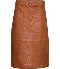 mairigz skirt ms20 knälång kjol brun gestuz