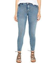 medium waist skinny jeans color blue