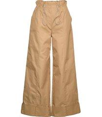 wide-leg paperbag waist pants vida byxor beige designers, remix
