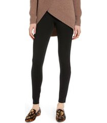 women's halogen high waist ponte leggings, size x-small - black
