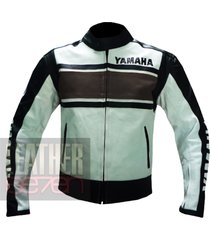 yamaha 5241 brown leather motorcycle motorbike  stylish cowhide safety  jacket