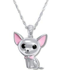 collar perro chihuahua casual plata arany joyas