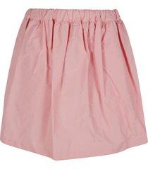 plan c ribbed elastic waist skirt