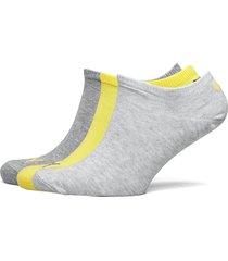 puma unisex sneaker plain 3p ankelstrumpor korta strumpor grå puma