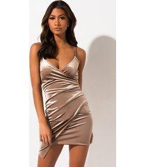akira wrap me in glam velvet dress