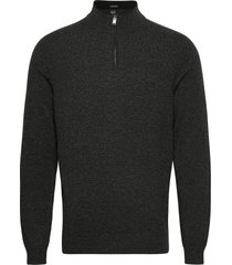 barlo-m knitwear half zip jumpers grå boss
