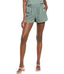 women's vero moda astimilo woven shorts, size medium - green