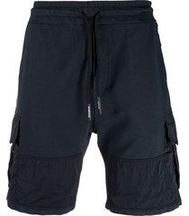 dondup two-tone cargo shorts - blue