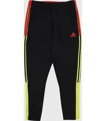 pantalón negro-rojo-amarillo adidas performance tiro track