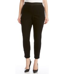 plus size women's karen kane denim leggings, size 3x - black