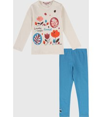 conjunto beige-azul-multicolor boboli