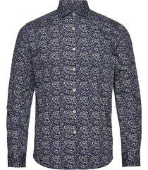 arthur spread collar shirt overhemd casual blauw morris