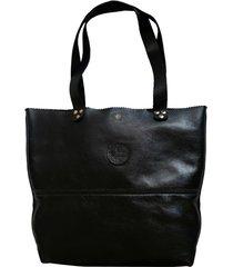 bolsa line store leather shopping bag preta