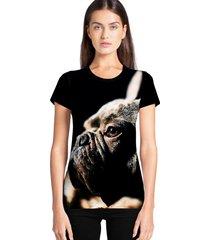 camiseta feminina ramavi dog manga curta