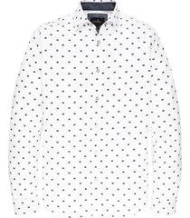 vanguard overhemd l.m. strech print wit vsi197404/7003