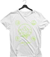 camiseta bã¡sica  jay jay wild camping neon branca dtg - branco - feminino - algodã£o - dafiti