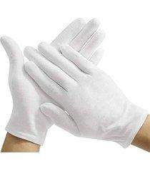 anti-sweat guantes de algodón blancos en la gruesa 12 pares de 607# me