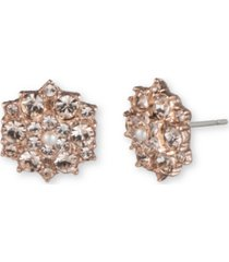 marchesa rose gold-tone imitation pearl & crystal cluster stud earrings