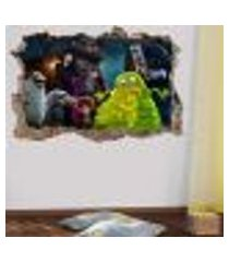 adesivo buraco na parede hotel transilvânia - p 47x73cm