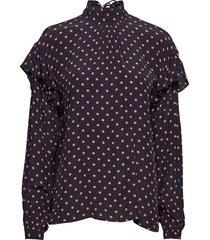 cleo blouse lange mouwen zwart stella nova