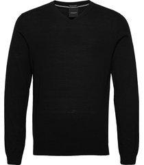 100 % merino v-neck knit stickad tröja v-krage svart lindbergh