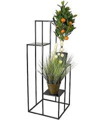 kwietnik metalowy ekspozytor na kwiaty czarny