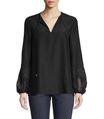 eli silk blouse