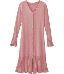 gebreide plissé jurk van bio-katoen, roze 42