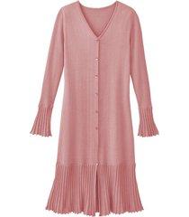 gebreide plissé jurk van bio-katoen, roze 36
