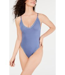 hanky panky women's cotton with a conscience thong bodysuit 898501