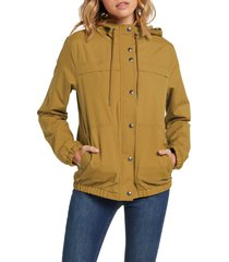 women's volcom enemy stone jacket, size small - yellow