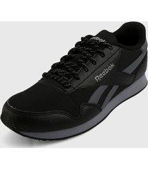 tenis lifestyle negro-gris reebok classics royal cl jogger 3