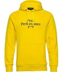 m original hood hoodie trui geel peak performance